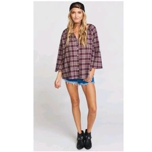 NWT Show Me Your Mumu Plaid Oversized Top …